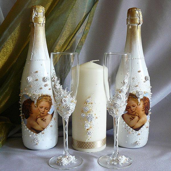 Бокалы для шампанского украсить 5