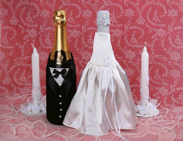 одежда для свадебных бутылок - Выкройки одежды для детей и взрослых.