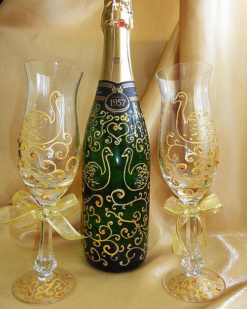 Подарок шампанское на свадьбу своими руками идеи 42