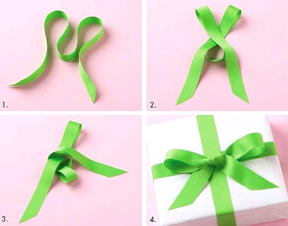 Как сделать бантик из бумаги для подарка своими руками