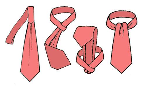 Как завязать галстук-кашне