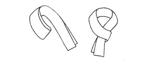 格子围巾 画法 手绘