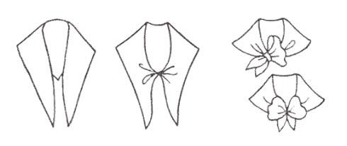 丝巾简笔画步骤