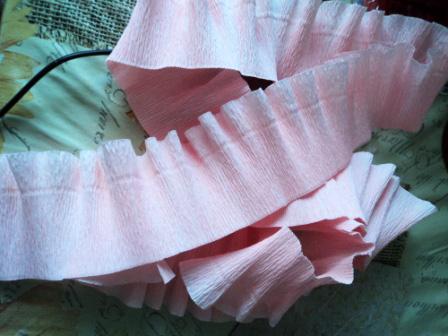 Как сделать волну на гофрированной бумаге