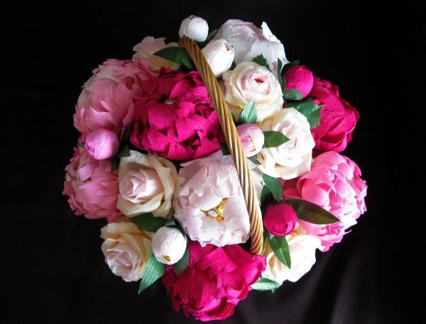 Конфеты розы из гофрированной бумаги своими руками