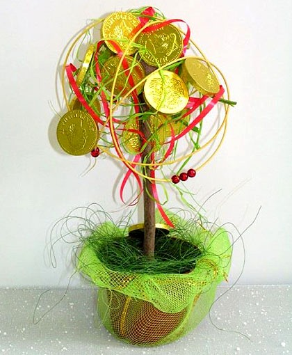 143Как сделать конфетное дерево