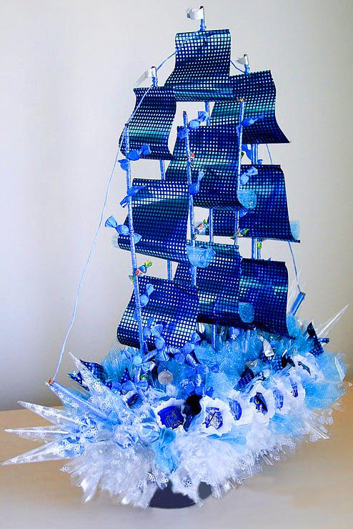 Букеты из конфет своими руками корабль 99