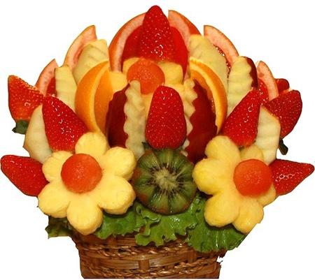 Как делать букеты из фруктов и овощей 97