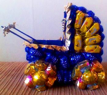 Коляска из конфет своими руками пошаговое
