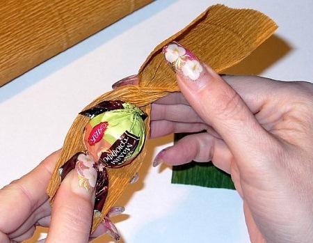 Оформление конфетного орешка