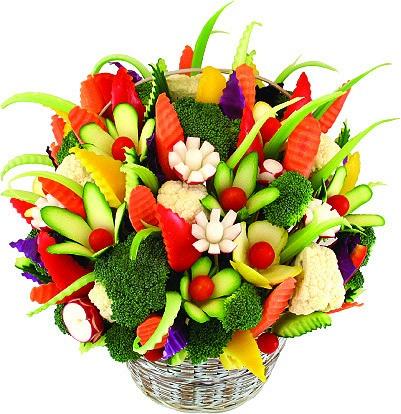 Как делать букеты из фруктов и овощей 14