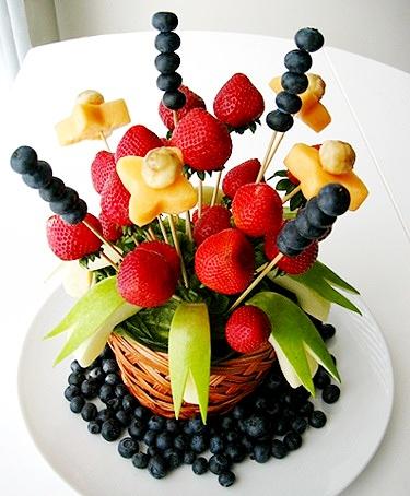 Как делать букеты из фруктов и овощей 94
