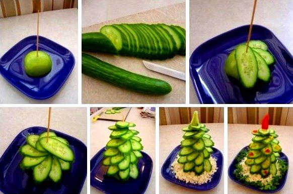 Украшения из овощей на новый год своими