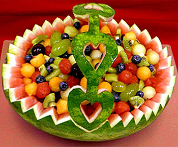 "Корзина для фруктов из арбуза.  "" Интернет-журнал  ""KORIZZA."