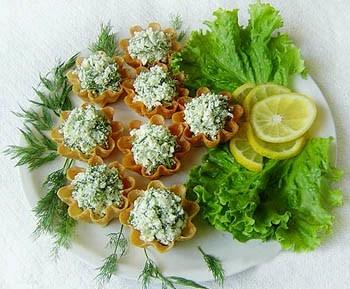 Рецепт в картинках порционных закусок.украшения для блюд, очень.
