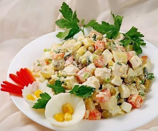 Салаты и закуски - вкусные рецепты салатов и закусок с.