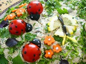 Meyve-Sebze �le Tabak S�slemek Resimli Anlat�m Tabak S�sleme Resimleri