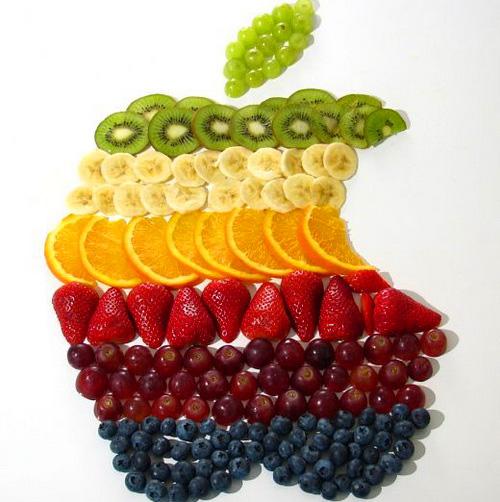 И красивая нарезка фруктов