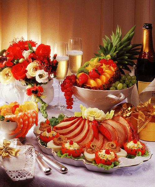 Открытки с праздничным столом