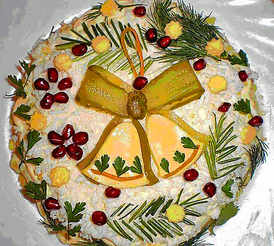 рецепты новогодних салатов с пошаговым фото