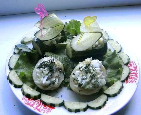 Салат Из Ветчины Сыра И Огурца