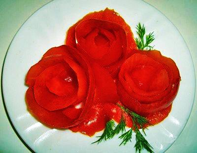 Как сделать розы помидора