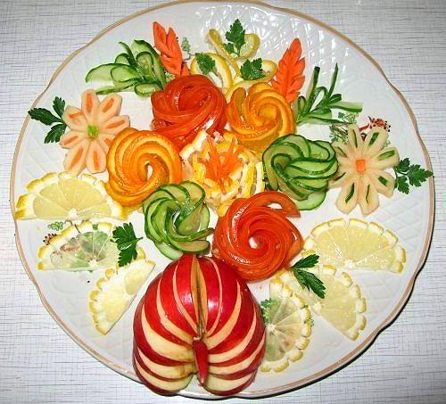 Украшения для салатов из овощей своими руками