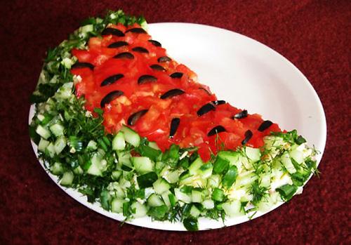 Красивые салаты с и рецептами для детей