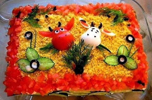 Тема: Re: Идеи украшения салатов.  21/11/2010, 00:38.  Украшение салата, паштета, закусочного или