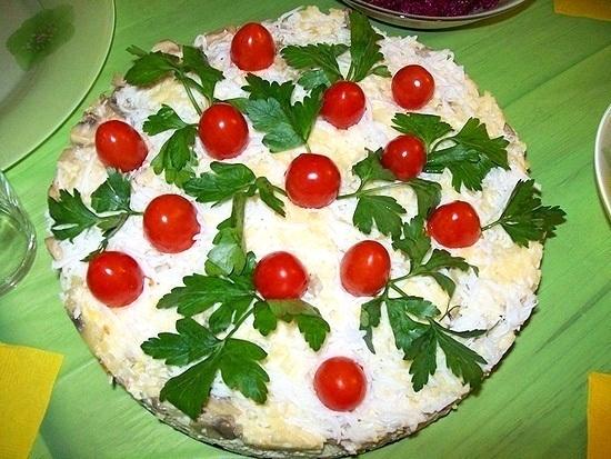 Салат-Куриный торт.