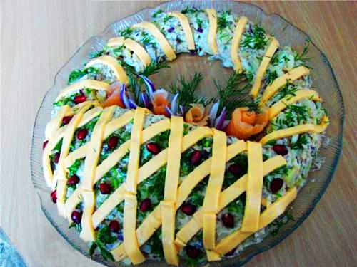 Красивые салаты с фотографиями салат корзинка