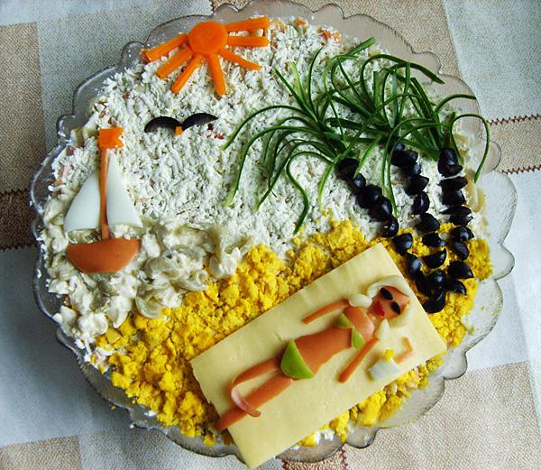Фото салаты и украшения