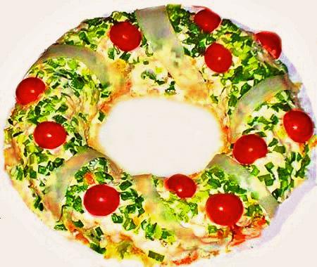 рецепты новогодних салатов с фото. новогодние салаты 2011 года.