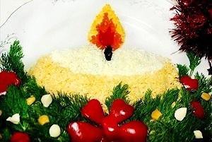 Новогодние салаты 2015 встречаем новый год Козы и провожаем год Лошади.