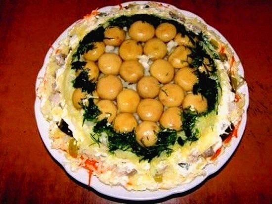 Салат из капусты с горошком рецепт с фото очень вкусный