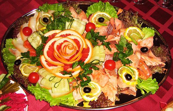 Украшения рыбных блюд фото