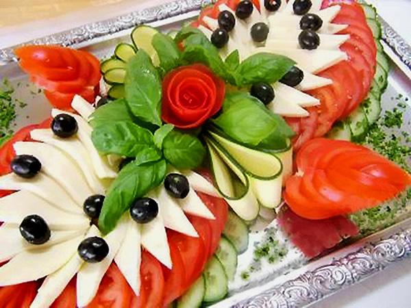 Украшение праздничных блюд.  Фото.