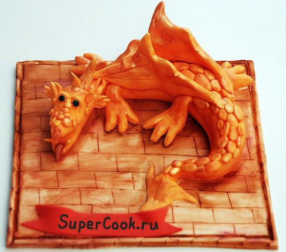 Новогодний торт Дракон - фото тортов к году Дракона.