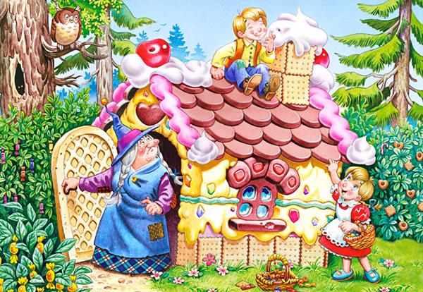 """""""Hansel et Gretel"""" - """"Гензель и Гретель"""", сказка братьев Гримм на французском языке, текст"""
