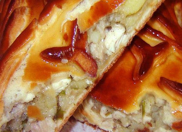 рецепты пирога с капустой из дрожжевого слоеного теста