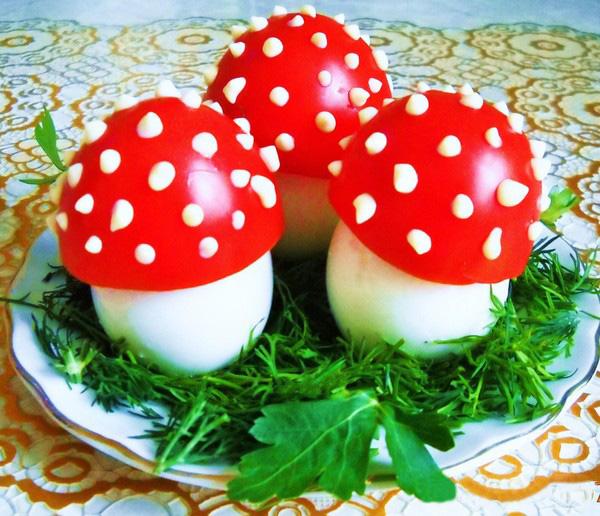 Как сделать грибы из помидоров 15