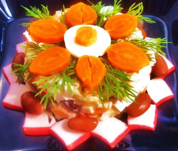 рецепт для салаты морковь и огурцы
