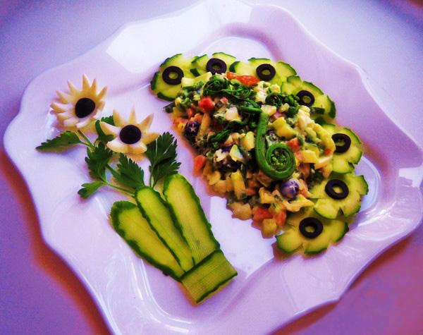 салат из папоротника из соленого рецепт с фото