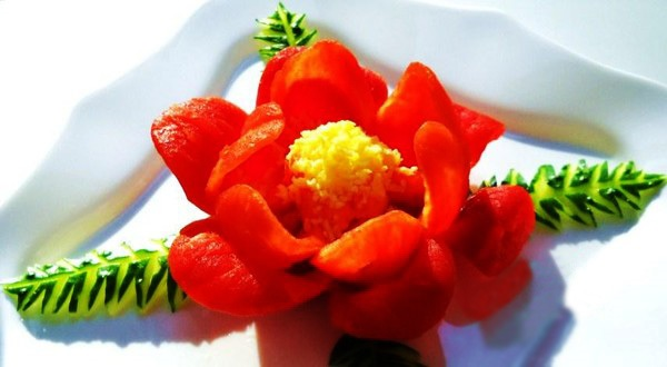 Как из болгарского перца сделать цветок