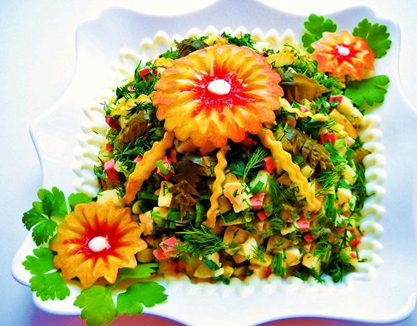 Салат с кукурузой и огурцом  Пошаговый рецепт с фото  Салаты