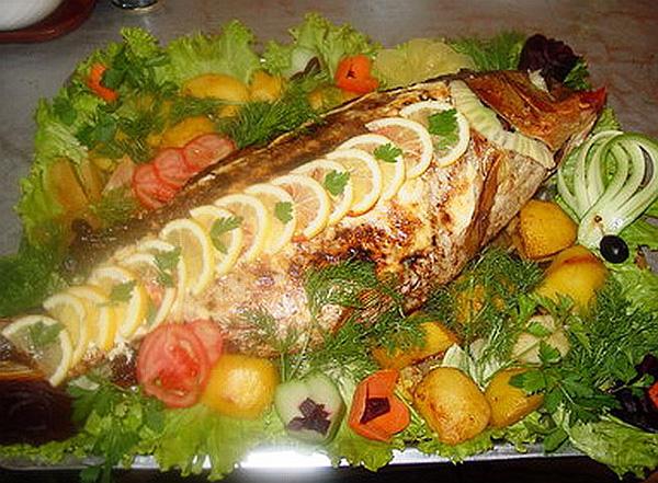 Рыба жареная или печеная