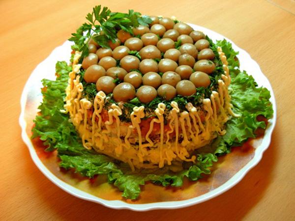 салаты из грибов рецепты с фотографиями
