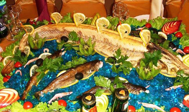 Оформление постных рыбных блюд