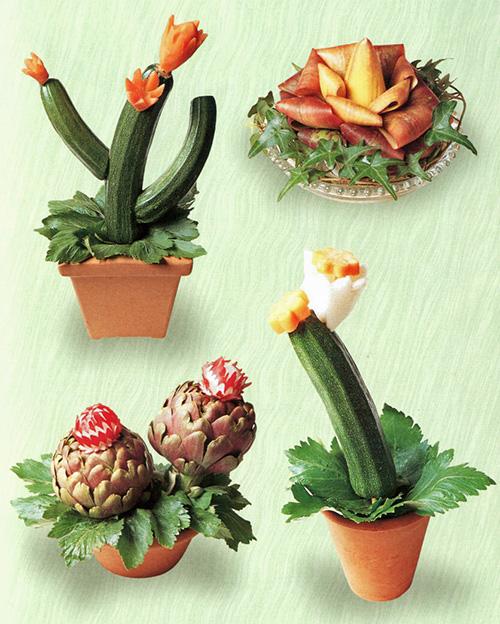 Поделки из овощей и цветов своими руками.