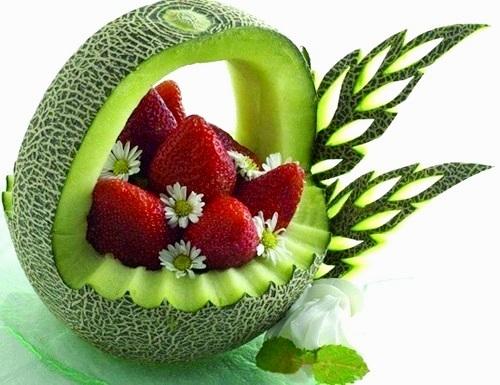 Резьба по овощам и фруктам украшение